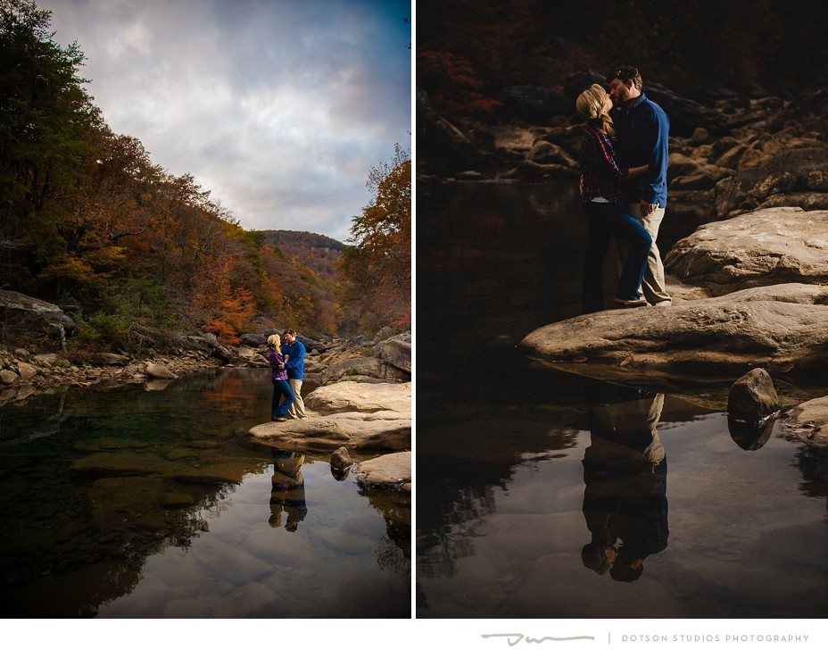 Darby Hershey and Carl Standefer's Engagement Photos at the Blue Hole near Chattanooga.